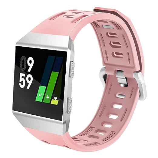 Correa de reloj para Fitbit Ionic hueca ajustable, correa iónica deportiva de silicona, correa de repuesto para reloj: Amazon.es: Relojes