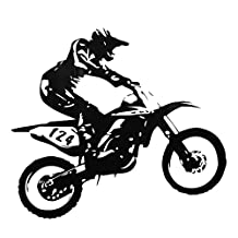 Motor-Racing Wall Sticker Removable PVC Vinyl Art Wall Decal Dirt Bike Mural Home Living Room Bedroom Boys Room Decoration