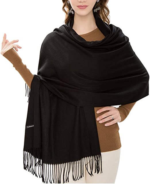 Mid Century Cashmere Feel Scarves with Tassels for Men Women