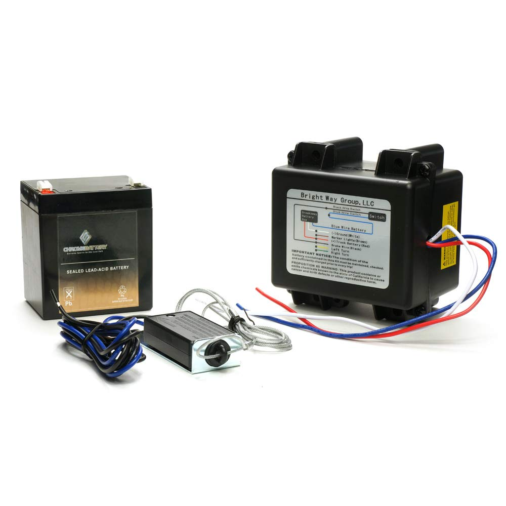 CB CHROMEBATTERY Breakaway Kit with Charger, Switch and Battery-Used for 1, 2, 3 Axle Trailers with Electric Brakes by CB CHROMEBATTERY