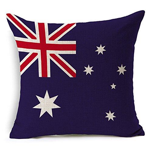 RFVBNM Cushion Covers,World Flag, Cotton Linen Home Decor Garden Outdoors Furniture Accessories Cushions Sofa Chair Car Bay Window Decoration Pillow Case (Cushion Covers Set of 2 pcs),Australia (Sets Outdoor Furniture Australia)