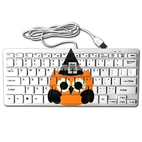 Halloween Clipart Cute Mini Keyboard Wired Thin Light 78 Keys USB For Pc Computer Laptop