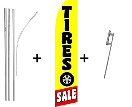 Holiday Sale Quantity 4 Super Flag /& Pole Kits