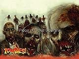 1/4 Sheet ~ Zombies! Halloween Birthday ~ Edible Image Cake/Cupcake Topper!!!
