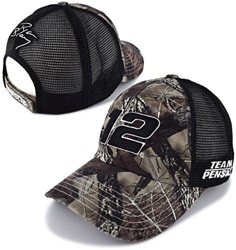 Checkered Flag Ryan Blaney 2018 TrueTimber Camo #12 Trucker Mesh NASCAR Hat - Nascar Camouflage Hat