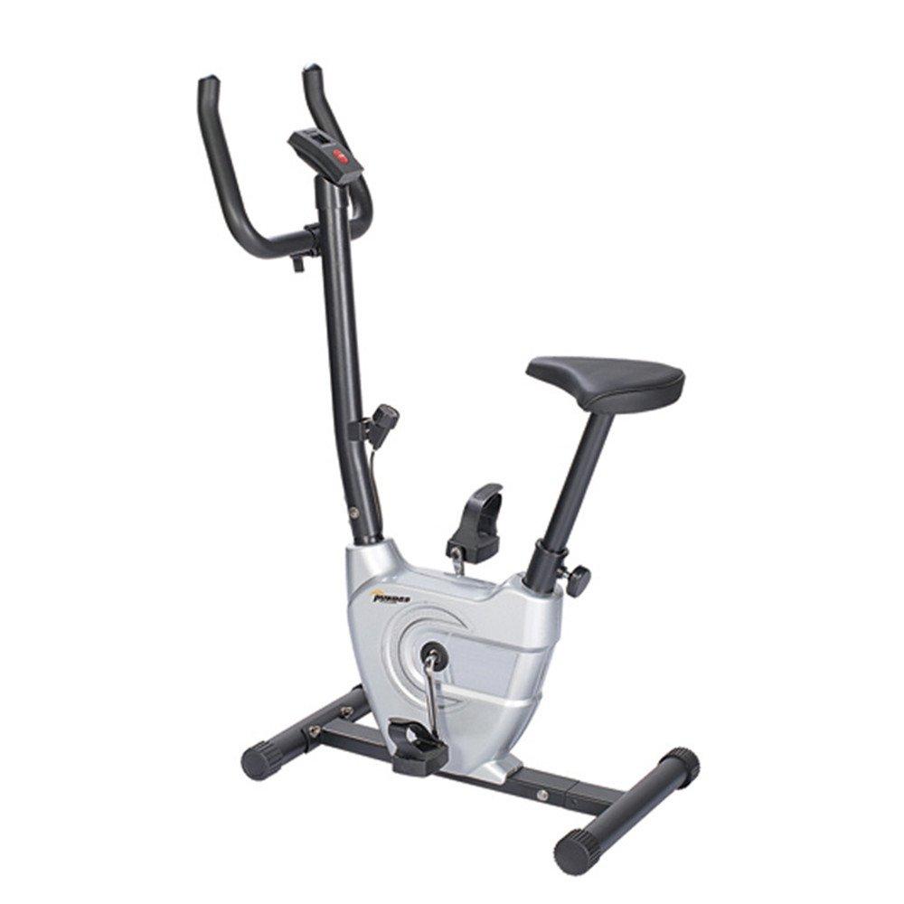 室内エアロバイク ホーム超静かな2ウェイ折りたたみ磁気制御回転スピニング自転車ミニリボン運動用自転車 調節可能なハンドルバー&シート (色 : 銀)  銀 B07QGRSB76