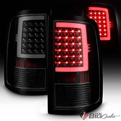 2009-2017 Ram 1500, 2010-2017 2500/3500 Black Smoked DRL-Light-Bar LED Tail Lights Pair L+R 2010 2011 2012 2013 2014 2015 2016