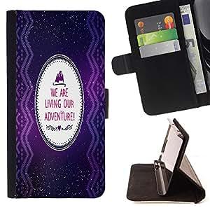 Jordan Colourful Shop - FOR HTC One M9 - we are living our adventure - Leather Case Absorci¨®n cubierta de la caja de alto impacto