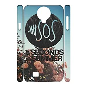 3D [5SOS Series] Samsung Galaxy S4 Case 5 Seconds of Summer Band - White