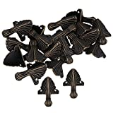 Mxfans 20 x Corner Decorative Antique Brass Metal Corner for Chest Jewelry Gift Boxes