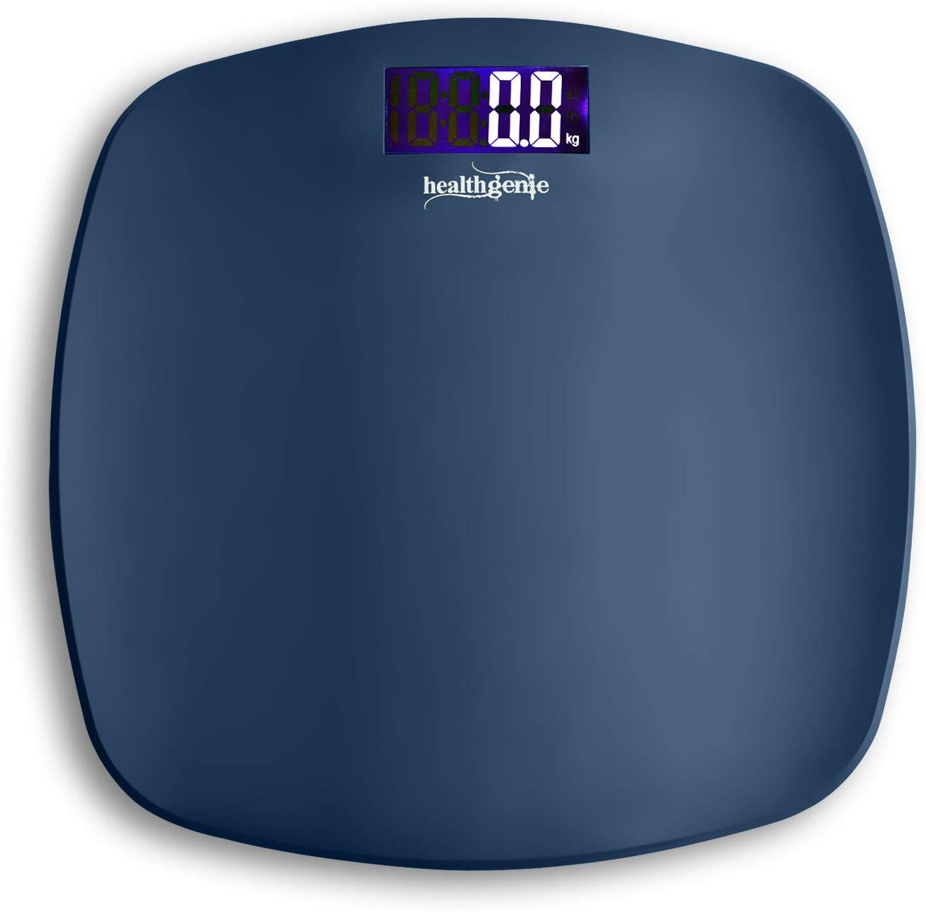 Healthgenie Thick Tempered Glass LCD Display Digital Weighing Machine