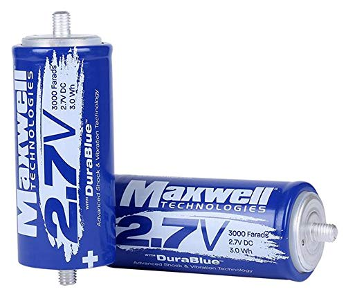 Maxwell DuraBlue car Audio Super Capacitor 2.7V 3000F Graphene Battery Wind Solar Hybrid Power System (2.7V 3000F ×6pcs)