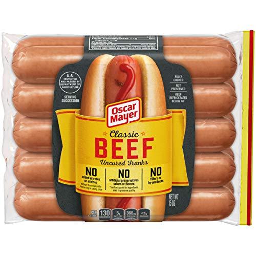 Oscar Mayer Classic Uncured Beef Franks (10 Count) (Best Hot Dog Franks)