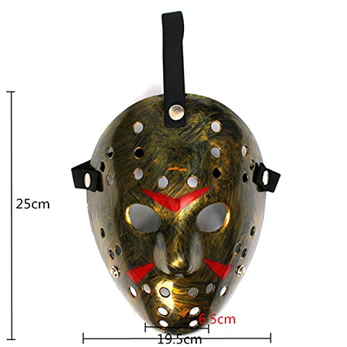 Amazon.com: BoatShop Old Jason Voorhees Halloween Mask Horror Hockey Mask, White: Home & Kitchen
