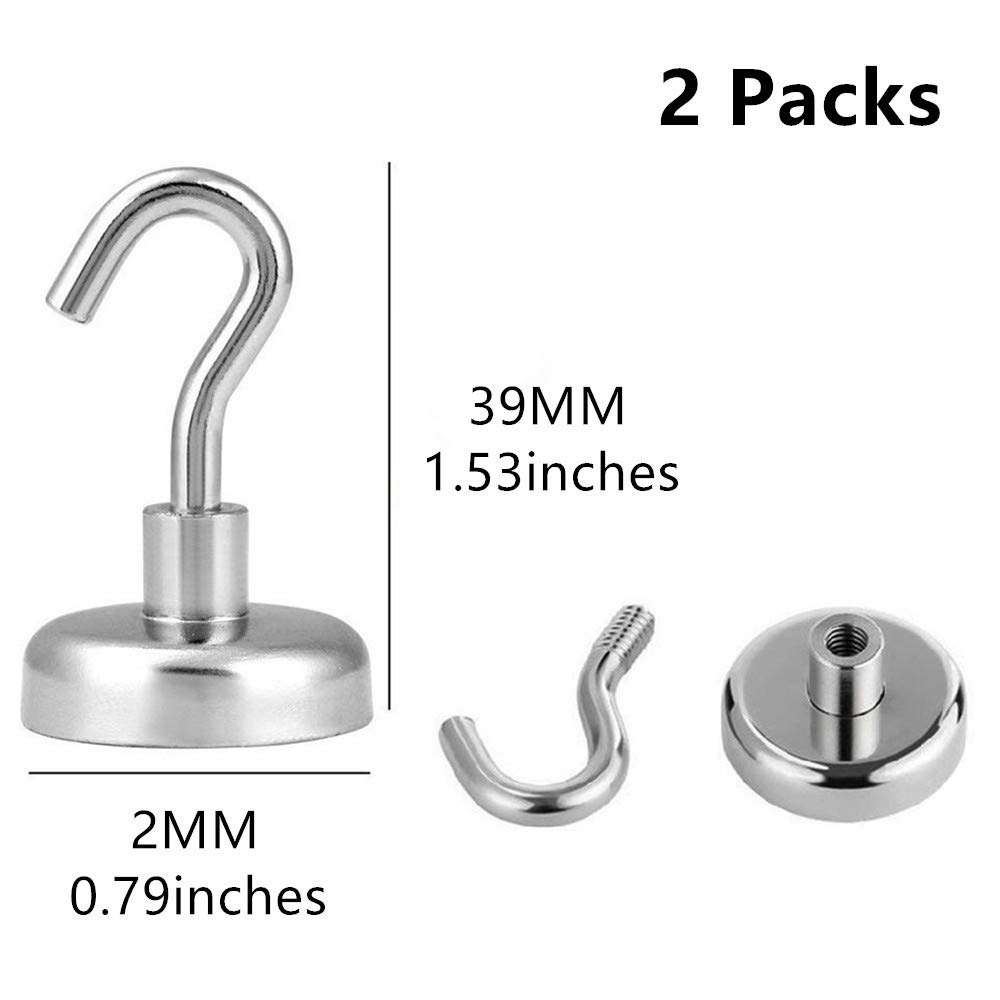 Workplace 15LB-10PCS Heavy Duty Magnet Hooks with Strong Neodymium Magnet Hook for Home Office and Garage Kitchen Pitcircle Magnetic Hooks