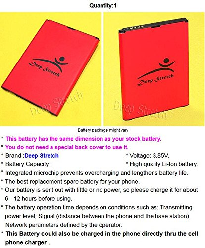 [LG V10 Battery] Long Lasting 3900mAh Extra Standard Replacement Battery for LG V10 RS987 Android phone - USA FAST SHIPPING