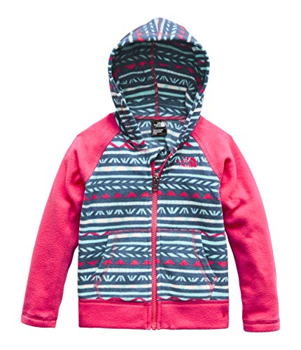 The North Face Kids Baby Girl's Glacier Full Zip Hoodie (Toddler) Blue Wing Teal Linocut Print 2T Toddler