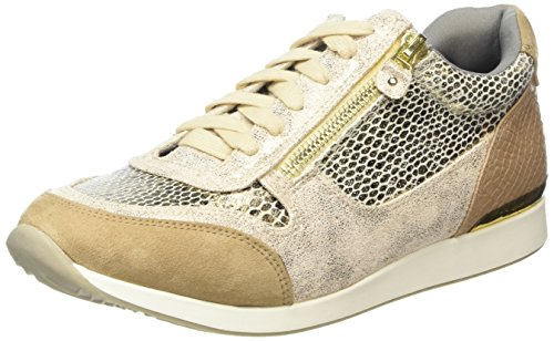 La Strada Gold Snake Leather Look Sneaker - Zapatillas Mujer Dorado - Gold (2206 - snake gold)