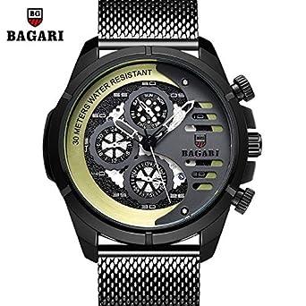 46c307cb2d Amazon | QTMIAO 美しいドレスウォッチ時計 BAGARI/three-eye 6ピン2018 ...