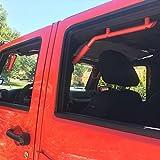 SUPAREE Red Rear Grab Handles-Solid Steel Grab Bar