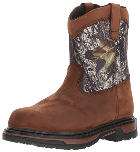 Image of Rocky Unisex FQ0003633 Mid Calf Boot, Brown Mossy Oak Breakup Camouflage, 13 M US Big Kid