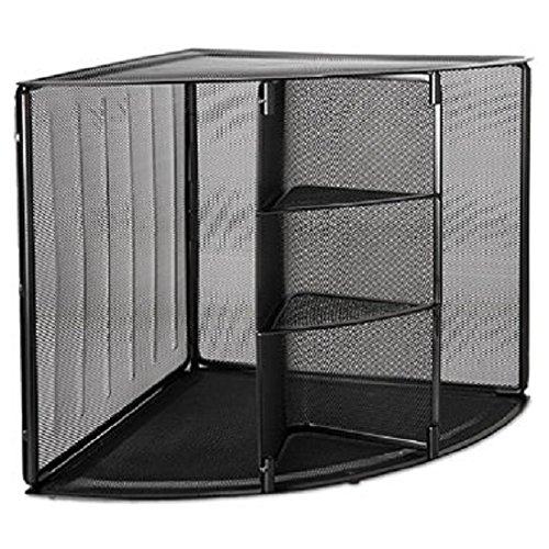 Rolodex 62630 Mesh Corner Desktop Shelf Five Sections 20 x 14 x 13 ()