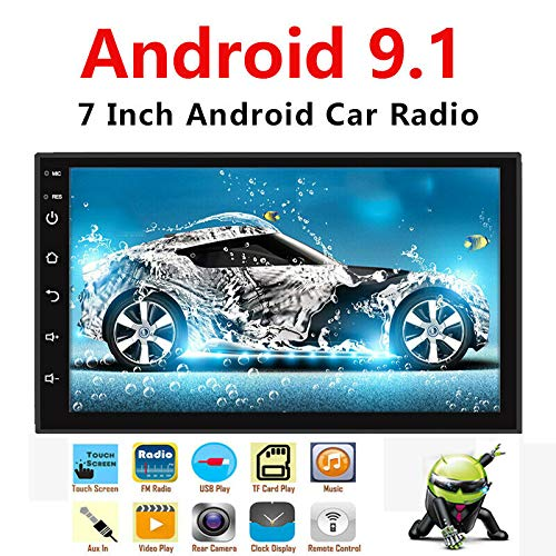 Binize Android 9.1 7 Inch HD Quad-Core 2 Din Car Stereo Radio Multimedia Player NO-DVD GPS Navigation in Dash AutoRadio Bluetooth/USB/WiFi (2G RAM+16G ROM) (Best Double Din Stereo For Android)
