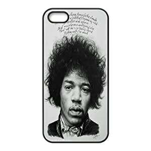 Custom Case Guitar player jimi hendrix poster phone Case Cove For Apple Iphone 5 5S Cases JWH9218574