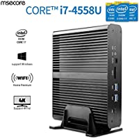 Msecore Protable Fanless Mini PC Host Intel 4th Gen of Core I7-4558u(4GB Ram,128GB Ssd,Wife) with Intel Hd Graphics Hd5100