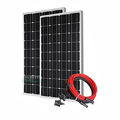 Unlimited Solar 200 Watt 12 Volt Off-Grid Solar Panel Kit - P2 Series