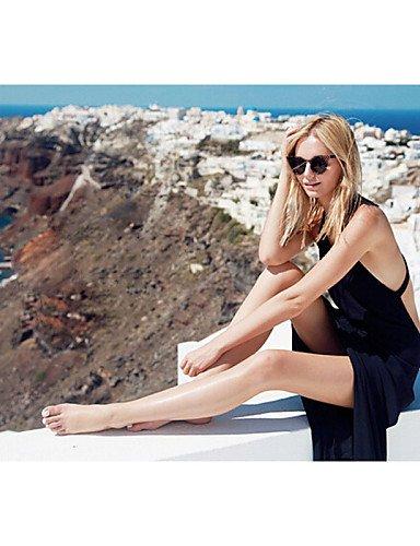 PU&PU Robe Aux femmes Ample Sexy / Plage , Couleur Pleine Col en U Maxi Autres , black-l , black-l