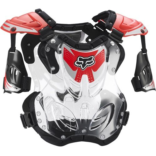 FOX R3 ROOST DEFLECTOR RED SM 50-120+ - Chest Protector Motorcycle