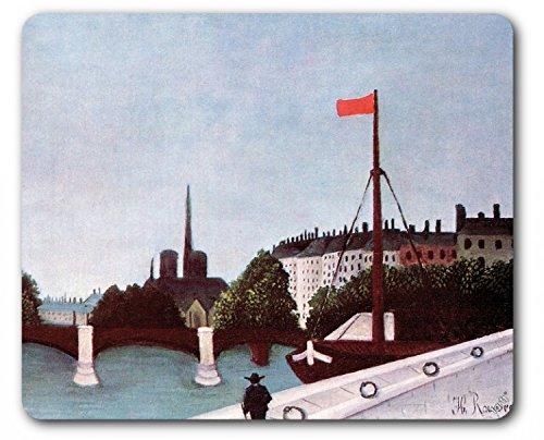 Henri Rousseau Mouse Pad - View Of The Ile Saint-Louis From The Quai Henri IV, 1909 (9 x 7 - Outlet Saint Louis