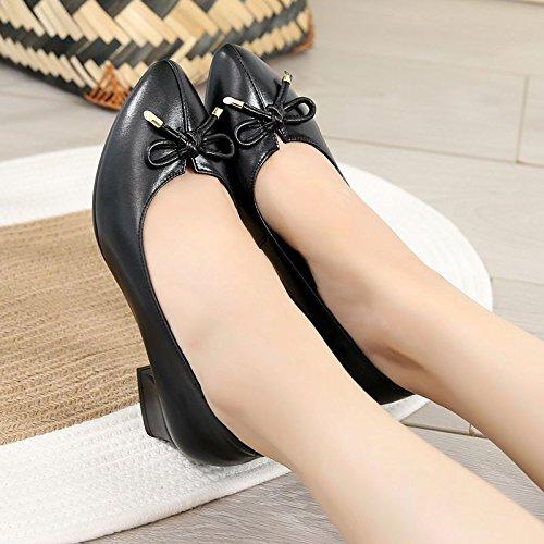 GTVERNH Damenschuhe Im Herbst Damenschuhe mit Mittel - Sind und Sharp Hat Schuhe Sind - Dick und Schwarz. 95538e