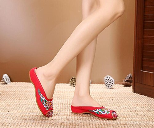Lazutom Chaussons pour Femme Red ZCUGiqGx7Z