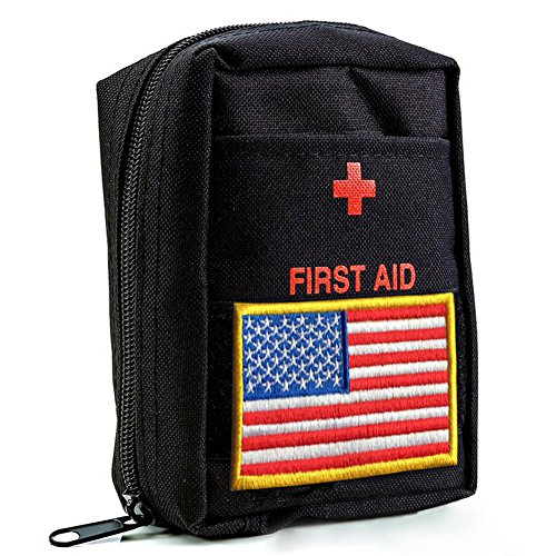 ViThink First Aid Medical Kit for Survival - Emergencies Small and Lightweight Compact Bag for Car,Home,Office,Sports,Travel,Boat, Hiking, Biking, Fully Stocked First Aid Kits (Military Waterproof First Aid Kit)