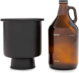 ESPRO Cold Brew Coffee Kit, 48oz, Stainless Steel Bucket, Black