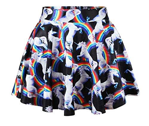 Gonna Stampa Size Corta Alta color Donna Girls Vita Colour Home Pieghe Plissettata Da A Dress Con L EqHv4wZp