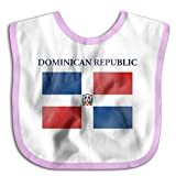 Dominican Republic Flag Soft Cotton Infant Baby Pinafore Pink
