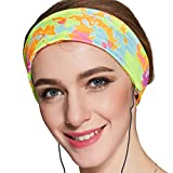 Sleep Headphones, with Velcro Adjustable Headband COZY Comfortable Soft Headphones for Sleeping - Perfect for Air Travel, Sports, Relaxation, Meditation and Relief from Insomnia (Lycra Muticolor)