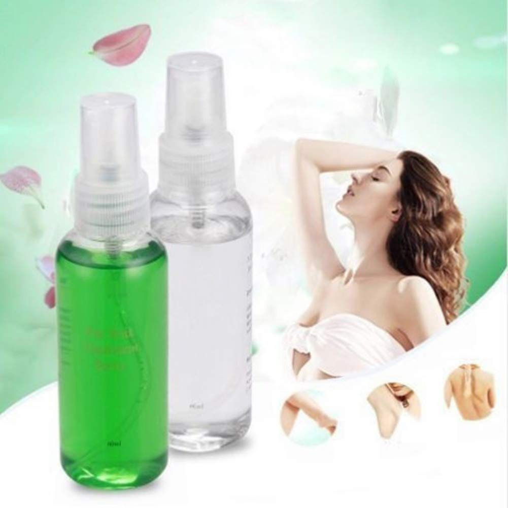 Smooth Body Hair Removal Spray Moisturizing Repairing Pre and After Hair Remove Exfoliation Cleaning Care Liquid by ROMANTIC BEAR