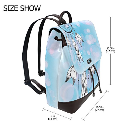 Girls Ty29 White Multi Shoulder School Dream Casual Feather Bag for Catcher 003 Bag Ladies Pu Backpack imobaby Leather Women's Purse xATqfa