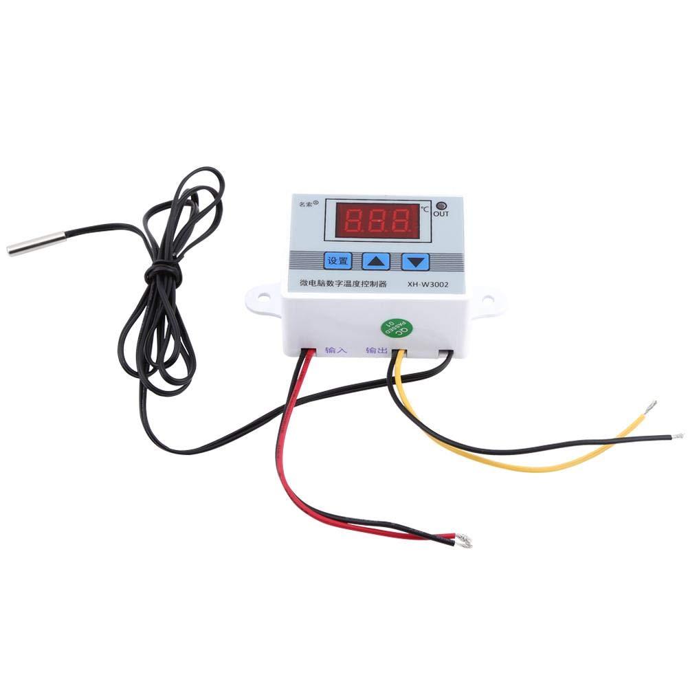 1Pcs Interruptor de Control del Termostato del Controlador de Temperatura Digital con Sonda(DC 12V)