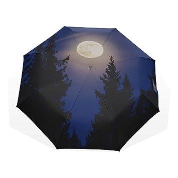 cheap sale lower price with half price Parapluie de Voyage Forêt de Nuit avec des Arbres sur Le ...