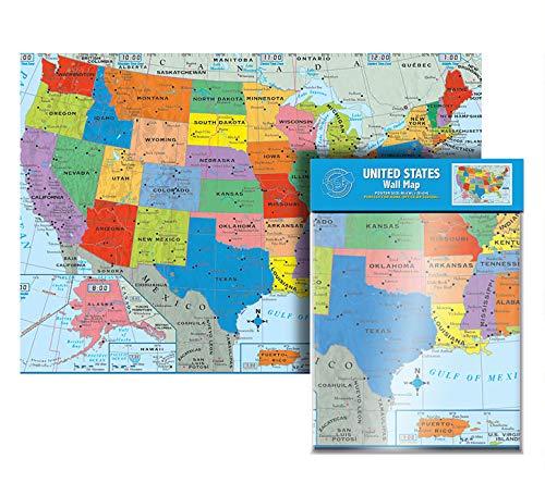 Ultimate Jumbo United States Wall Map | US Map Poster- USA 50 States 40
