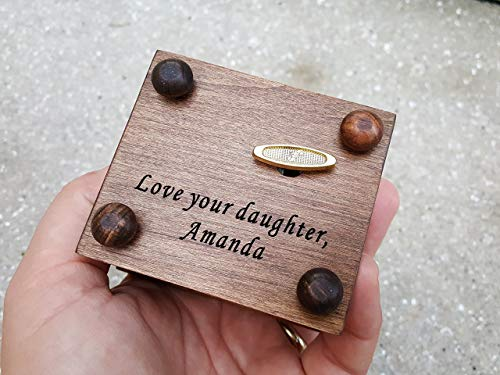 Custom made music box with Mom engraved on top, with your choice of color and song, great gift for Mother's day or birthday gift for mom by Simplycoolgifts (Image #4)
