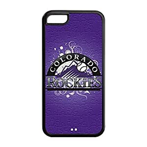 Perfectly Designed iPhone 5C pc hard Cover Case with Baseball Colorado Rockies Design Background-by Allthingsbasketball