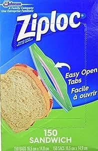 Amazon.com: Ziploc Bolsas para sándwiches, 6.5 x 5.875 ...