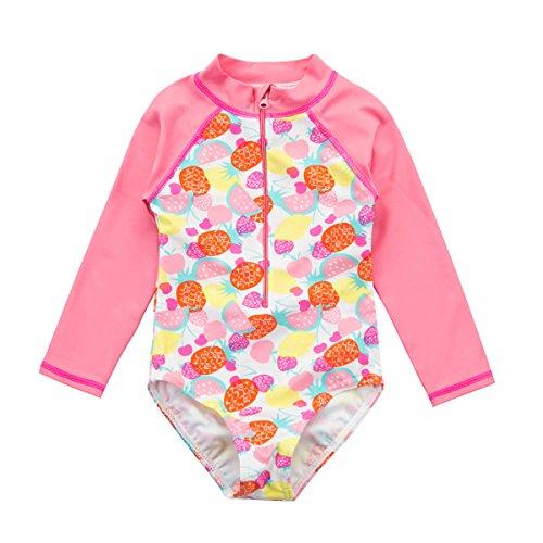 - Wishere Baby Girl Sunsuit One-Piece Swimsuit Rash Guard Swimwear