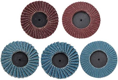 5tlg Fächerscheibe schleifteller Normalkorund Flex/Winkelschleifer, Körnung 80, Ø75mm + 50mm